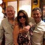 Cristina Lips com Chicô e Paulo