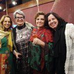 Gilda com as sobrinhas Gisela e Taís e com a grande promoter de BH