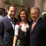 Governador João Doria com Ruth e o imortal Arnaldo Niskier