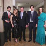 Pedro Brigagão, Danielle e Gustavo Brigagão, Guilherme Benchimol, Ana Clara Sucolotti