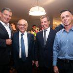 Gustavo Bebianno, Sérgio Bermudes, Marcelo Fontes e Lauro Jardim