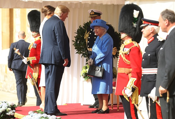 A Corte de Saint James ainda se recupera da visita do presidente Donald Trump ao Reino Unido