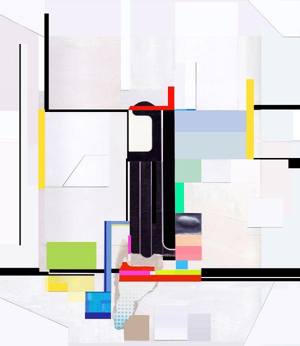série tech colors, colagem sobre pôster