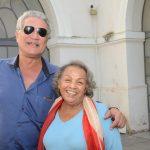 Fernando Vieira e Silvia Powell (viúva do Baden Powell)