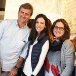 Juarez Farias, Karine Azevedo e Gabriela Figueiredo