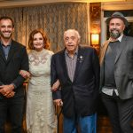 A familia Mendonça, Rodrigo Mendonça, Rosamaria Murtinho, Mauro Mendonça e Mauro Mendonça Filho