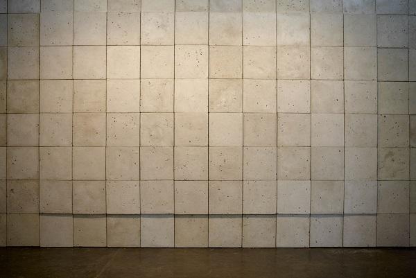 daniel senise, muro feito em papel machê, 2010