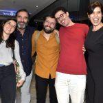 Família - Theodora , Edgar e Gregório Duvivier , Bruno Jablonski e sua mãe Maria Clara Gueiros