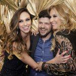 Flávio Jobim entre Giuliana Barros e Giovanna Cassano