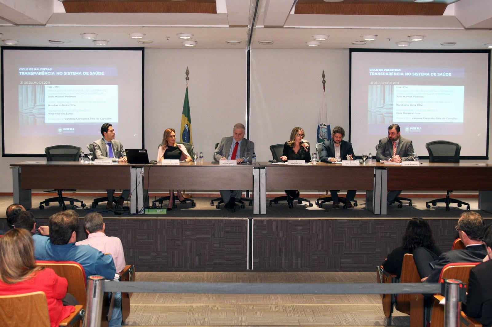 """Evento sobre """"Transparência no Sistema de Saúde"""" na sede da Procuradoria Geral do Estado"""