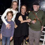 Mariana e seu filho Rafael com os pais Célia e Jaguar