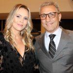 Presidente do Vasco Alexandre e a mulher Lorena Campello