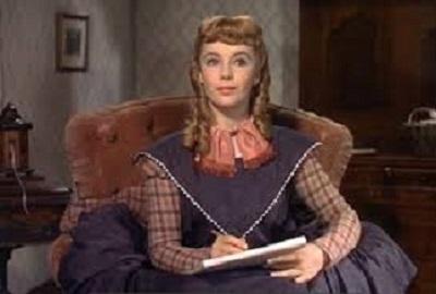Elizabeth Taylor como a Amy da primeira versão de Little Women