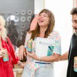 Carina Barros, Luiza Donner e Bruno Portella