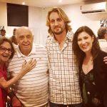 Leandro Bellini com Laura Cardoso, Mauro Mendonça e Beth Goulart