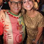 Presidente de Honra da Grande Rio Jayder Soares e Carol Sampaio