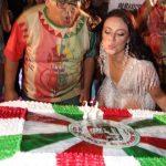 Presidente de Honra da Grande Rio Jayder Soares e Rainha de Bateria Paolla Oliveia