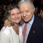 Sandra e seu pai Arnaldo Niskier
