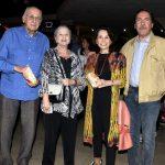 Zuenir e Mary Ventura e Elza e Merval Pereira