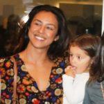 Yanna Lavigne e a filha Madalena