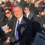 Aline e o governador da Bahia, Rui Costa