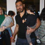 Rogério Minotouro com o filho