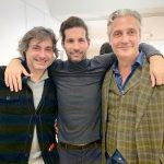 Jean-Jacques Cesbron, representante do American Ballet Theatre; Lucio Salvatotre e Rene Bastian, produtor de cinema