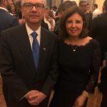 O embaixador do Brasil em Roma, Hélio Ramos e sua mulher