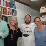 Claufe Rodrigues. Cristina Oldemburg, Luiz Antonio Simas e Dani Quitete