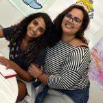 Maria Luiza e sua mãe Debora Assumpção