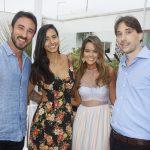 Rodrigo Rogero, Tais Bulcao a estilista Sabine Arias e Danilo Capua