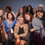 Ana Maria Machado(cercada pelas professoras)