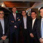 Antonio Carlos, Presidente da BBC na Alemanha Ulrich Ulrichs, Ricardo Buteri, José Luiz Vidal e Josu Iturri
