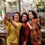 Beth Serpa e Margaret Padilha com Suzete Dourado