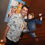 Claudio Lins com seu filho Mariano