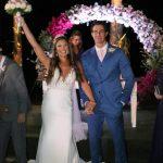 Os noivos Elaine Azevedo e Wanderley Severo