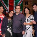 Soraia, Carol, Luis e Luisa Martins e Guilherme Chalhoub