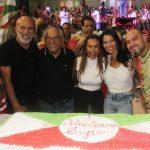 Helinho Oliveira, Presidente de Honra da Grande Rio Jayder Soares, Simone Oliveira, Tatiana Oliveira e Yuri Soares