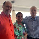 João Elisio Ferraz de Campos, Leda Nagle e Orlando Corrêa