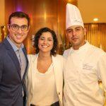 Jonas Porto, Luana Goes e o chef Morvan Lucky
