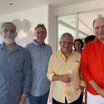 Leonardo Laginestra, Chico Grabowsky, Salvador Pinto e João Elisio Ferraz de Campos