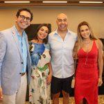 Netto com a esposa Adriana Moreira, o presidente da Riotur Marcelo Alves com a esposa Adriana Alves