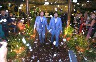 Bruno Chateaubriand e Diogo Bocca comemoram um ano de casados com renovação de votos
