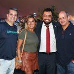 Eduardo e Renata Gil, Cláudio Castro e Luciano Rinaldi