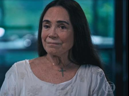 Regina Duarte já apareceu muito abatida na entrevista a Ernesto Paglia, no Fantástico do último domingo