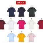 Blusas by Marcia Lebelson: as Polo a R$ 178 cada; a blusa de poás, R$ 280