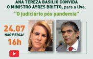 Ayres Britto participa de live sobre o Judiciário pós-pandemia