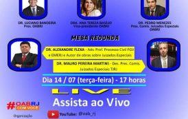 OAB do Rio de Janeiro faz  live sobre Juizados especiais cíveis