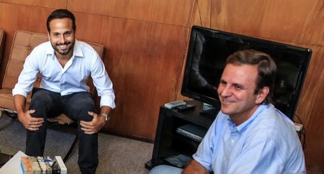 Eduardo Paes e Marcelo Calero: unidos pelo Rio