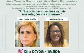 Advogadas debatem em live, A influência das questões  raciais nas relações de consumo